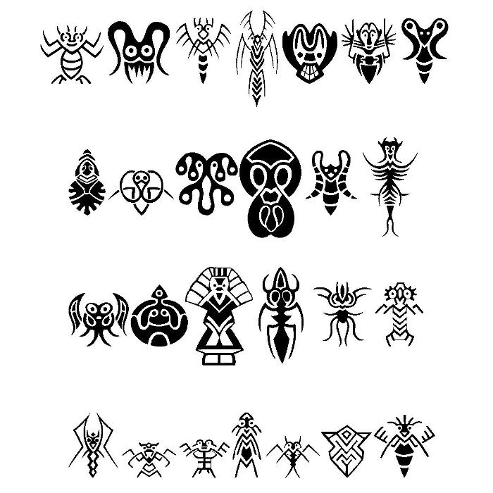 Abstract Alien Symbols