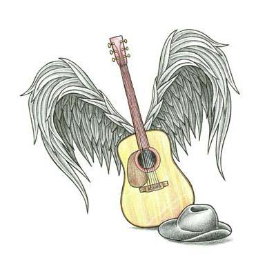 Acoustic Guitar With Wings Tattoo Designs Images amp Pictures Becuo