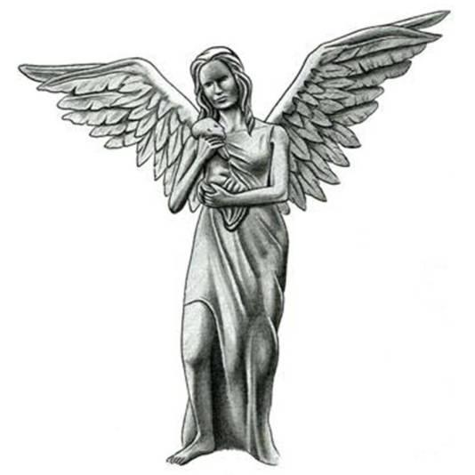 angel carrying a baby tattoo design tattoowoocom tattoo tattooskid. Black Bedroom Furniture Sets. Home Design Ideas