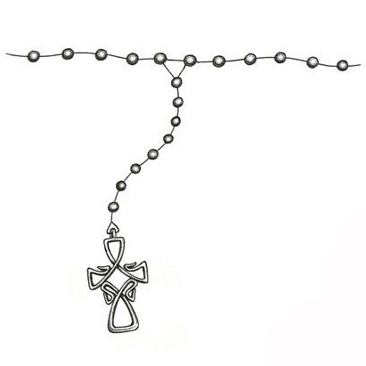 Rosary Beads Ankle Tattoo Designs