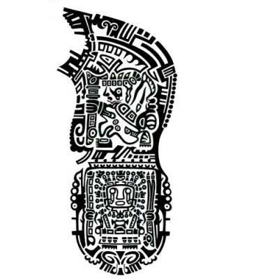 Aztec Half Sleeve Tattoo Designs