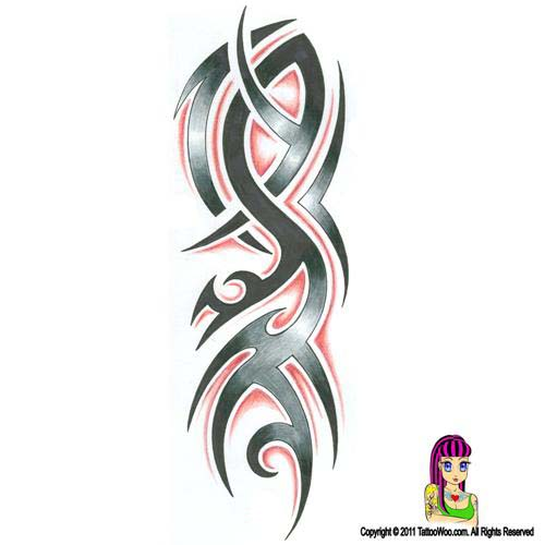 tribal spikes tattoo tattoo designs spike tattoo pictures to pin on pinterest. Black Bedroom Furniture Sets. Home Design Ideas