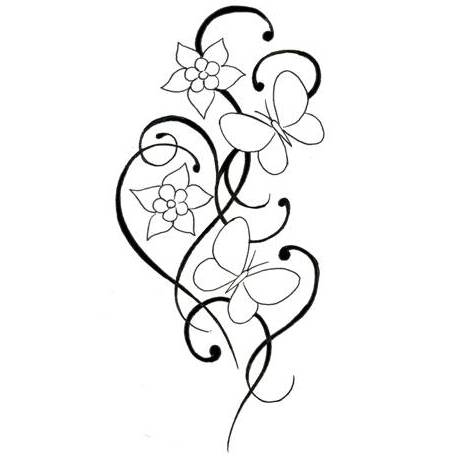 Simple Flower Tattoo
