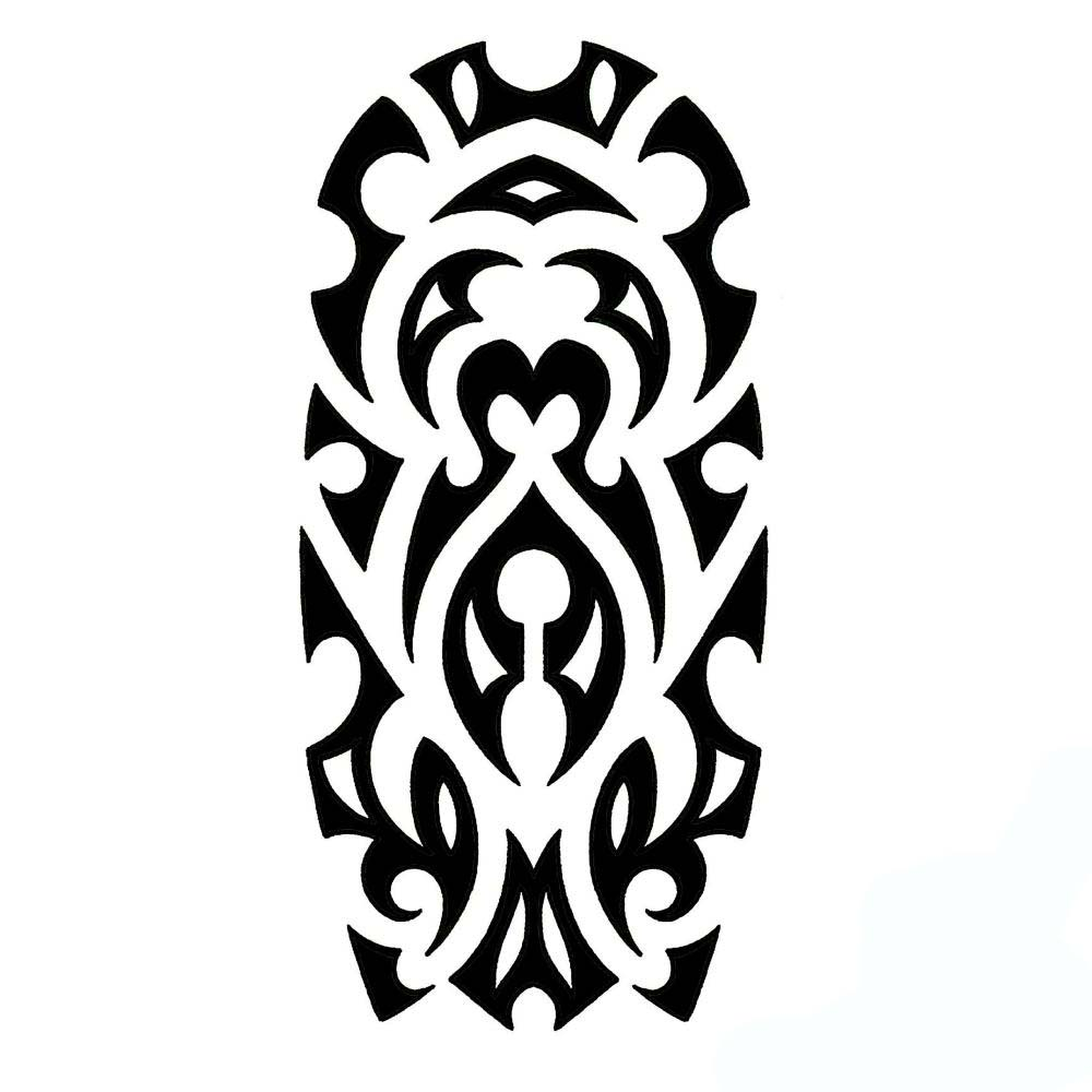 Tribal Sleeve Tattoo Stencil