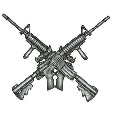 Crossed M4 Rifles Tattoo Design - TattooWoo.com