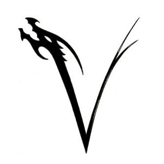 Initial 34  V Tattoo Designs