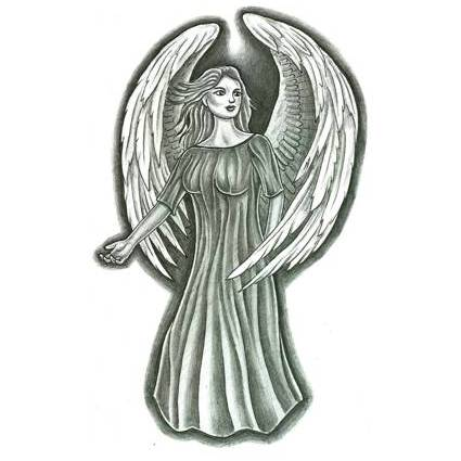 female angel tattoo design. Black Bedroom Furniture Sets. Home Design Ideas