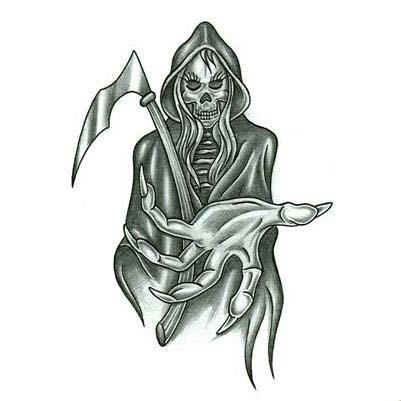 Grim Reaper Tattoo Drawings