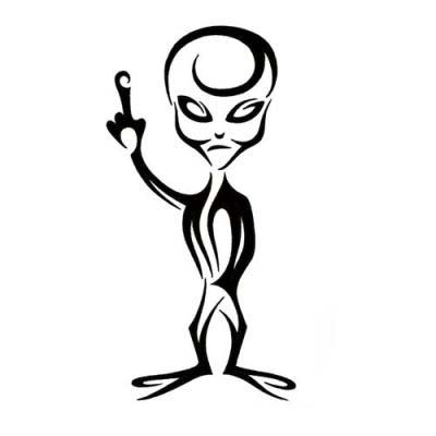 Friendly Alien Tattoo Design