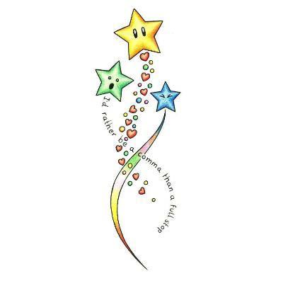 Drawing Star Tattoo Designs Shooting Star Best Tattoo Ideas