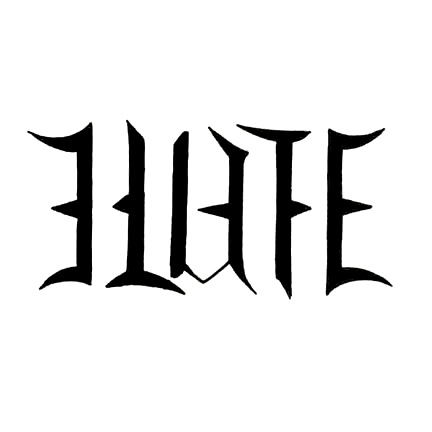 Hate Ambigram Tattoo Design - TattooWoo.com
