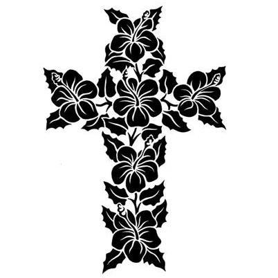 Cross Drawings With Flowers Cross13