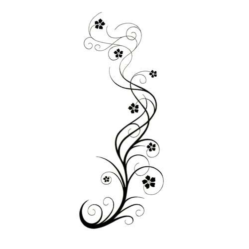 tattoo price tribal shoulder TattooWoo.com With Vine Design Flowers Tattoo  Swirly Long