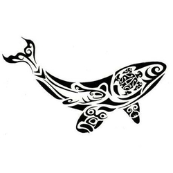 polynesian whale tattoo art design. Black Bedroom Furniture Sets. Home Design Ideas