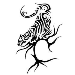 oriental tiger tattoo design. Black Bedroom Furniture Sets. Home Design Ideas