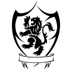 cool tribal family crest tattoo design with an english lion. Black Bedroom Furniture Sets. Home Design Ideas