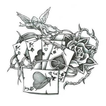 Poker Tattoo Designs on indian traditional home design