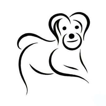 simple dog tattoo design. Black Bedroom Furniture Sets. Home Design Ideas