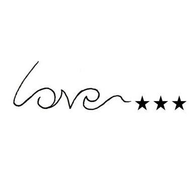 Simple word love tattoo design The designlover