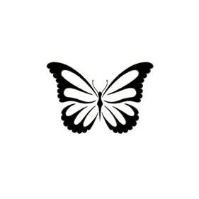 Simple Black Butterfly Tattoos