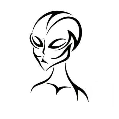 Tribal Alien Tattoo Design