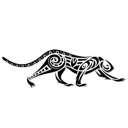 a9116451537b2 Jaguar on Tribal Jaguar On The Prowl Tattoo Design Tattoowoo Com