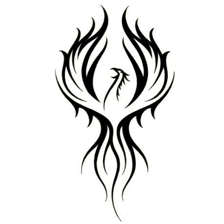 Tribal phoenix tumblr for Images of tribal tattoos