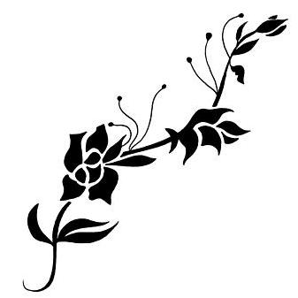 tribal rose vine tattoo design tattoowoocom