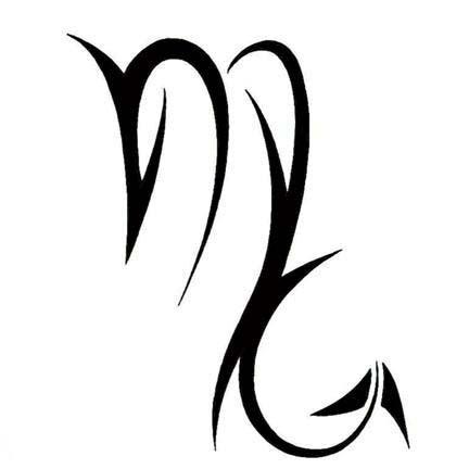 Tribal scorpio zodiac tattoo