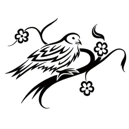 tribal sparrow tattoos. Black Bedroom Furniture Sets. Home Design Ideas
