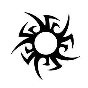 Tribal sun tattoo for Sun tribal tattoos