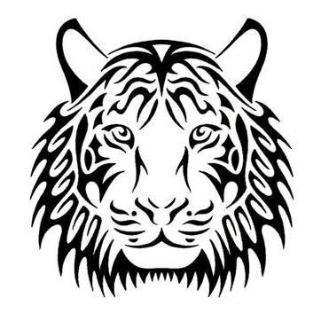 Tribal Tiger Face Tattoo Design Tattoowoo Com