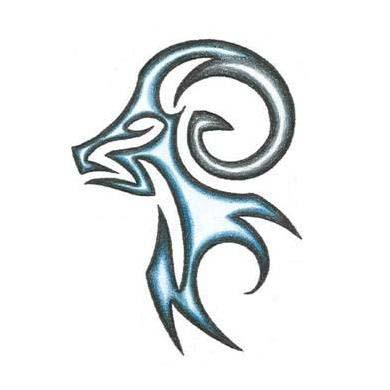masculine tribal aries ram design tattoowoo
