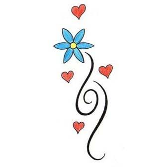 Easy Flower Tattoo Drawings Flowers Healthy
